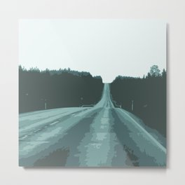 Abstract empty road Metal Print