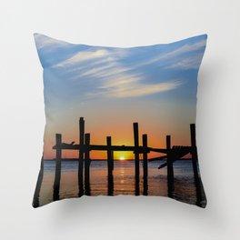 Sunset at Fernadina Beach Throw Pillow