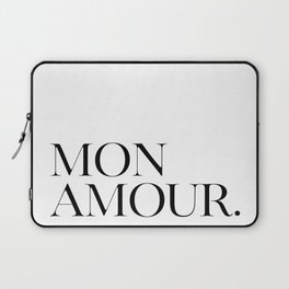 Mon Amour, Amour Quote, Love Quote, Love Art, Amour Quote Laptop Sleeve