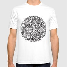 Mishmash White SMALL Mens Fitted Tee