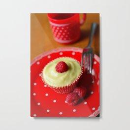 Raspberry Trifle Cupcake Metal Print