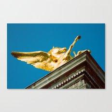 Gold Pegasus Canvas Print