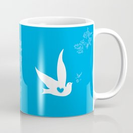 Wings of Love - Blue Coffee Mug