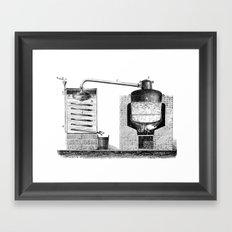Alambic à double fond pour la distillation des marcs de raisin Framed Art Print