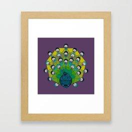 a peacock for krystee Framed Art Print
