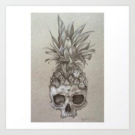 PineSkull Art Print
