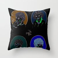 golden girls Throw Pillows featuring I Heart the Golden Girls Print by Jackie Thomson