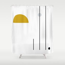 SPACCE 05// Geometric Pastel Minimalist Illustration by Shower Curtain