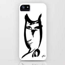 Owl - Fusion of pen strokes iPhone Case