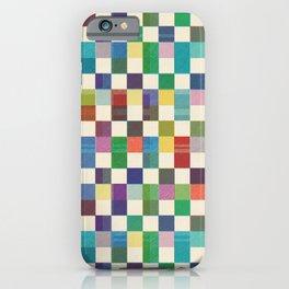 Fair Isle Woolen Quilt Blue iPhone Case