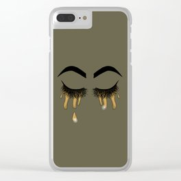 I cry gold Clear iPhone Case