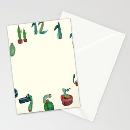 Clock Cactus Stationery Cards