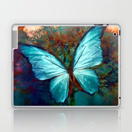 The Blue butterfly Laptop & iPad Skin