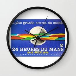 24hs Le Mans, 1974, original vintage poster Wall Clock