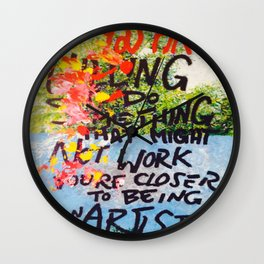 IF YOU ARE WILLING Wall Clock