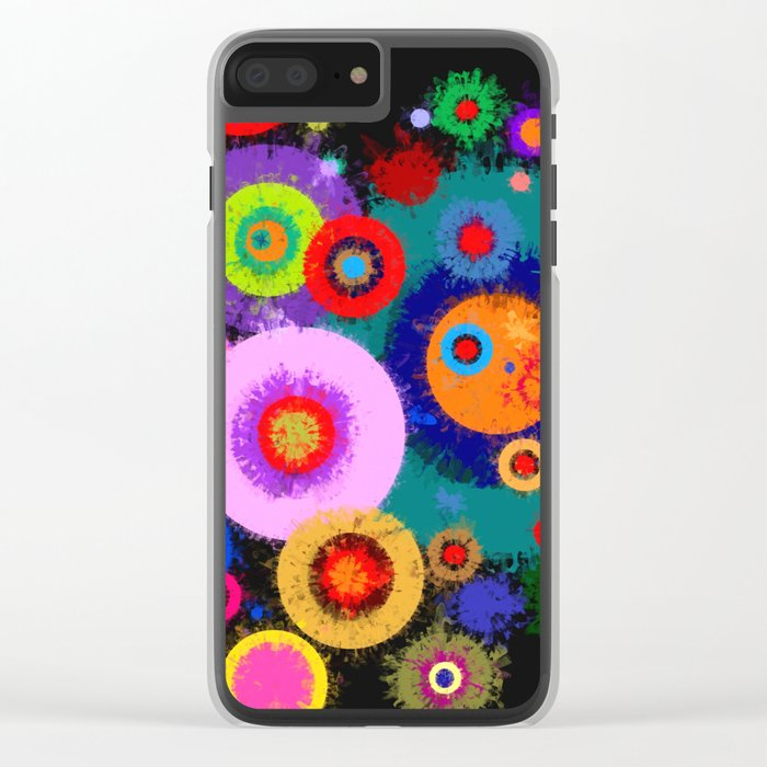 Abstract #381 Splirkles #1 Clear iPhone Case