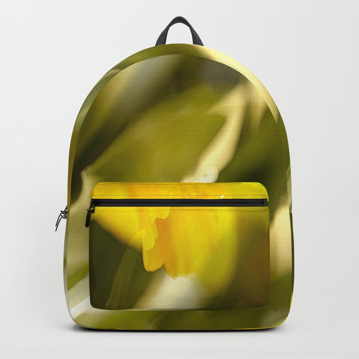 Spring atmosphere with yellow narcissus Backpack
