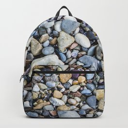 Shellfish and Stones at the beach of Lago di Garda Italy II Backpack