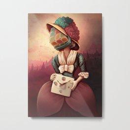 Lady Rubik Metal Print