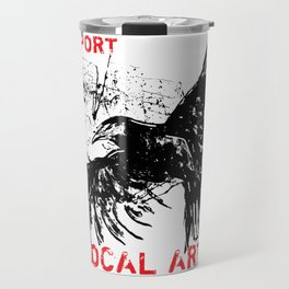 Crow in Flight Travel Mug