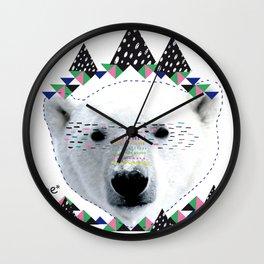 Folk bear Wall Clock