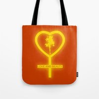 sailor venus Tote Bags featuring Sailor Venus by trekvix