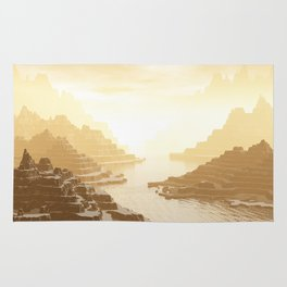 Misted Mountain River Passage Rug