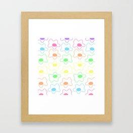 Colorful Eggs Framed Art Print