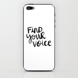Find Your Voice iPhone Skin