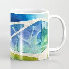 Glass Cube. Coffee Mug