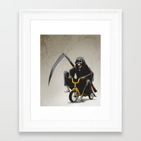 death Framed Art Prints featuring Death by Antracit