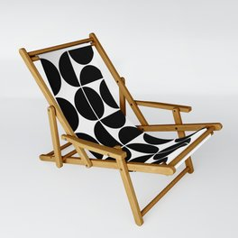 Mid Century Modern Geometric 04 Black Sling Chair