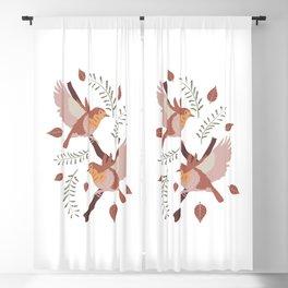 flying robin birds  Blackout Curtain