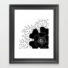 Abstract flower . Black and white . Framed Art Print