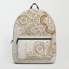Mandala Temptation in Cream Backpack