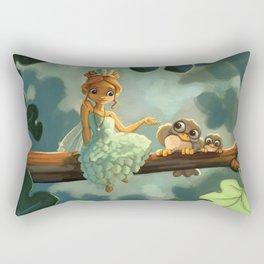 Green Fairy Rectangular Pillow