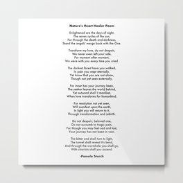 Nature's Heart Healer Poem Writer's Edition Metal Print