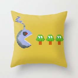 March of Progress | videogame #tribute | #pixelart Throw Pillow