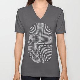 Fingerprint Unisex V-Neck