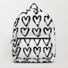 Black & White-Love Heart Pattern - Mix & Match with Simplicty of life Backpack