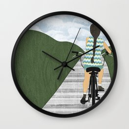 Cyclist From Behind Wall Clock