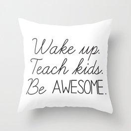 Awesome Teacher Throw Pillow