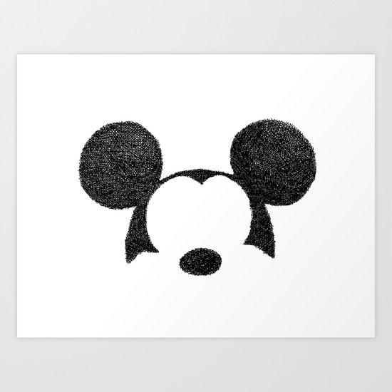 Mickey Hatching Art Print