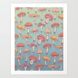Champignons Art Print