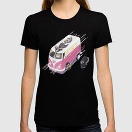 Hippie pink bus T-shirt
