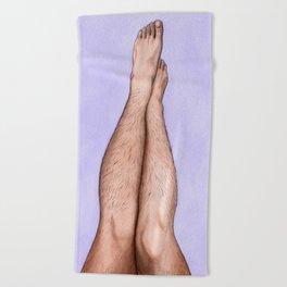 I Love My Legs Beach Towel