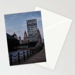Love Locks Towards The Liver Building Stationery Cards