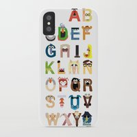 alphabet iPhone & iPod Cases featuring Muppet Alphabet by Mike Boon