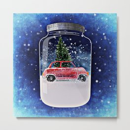 Christmas in a Bottle Metal Print