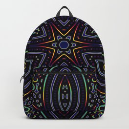 Mandolina Star Mandala With Stratos Dark Blue Backdrop Backpack